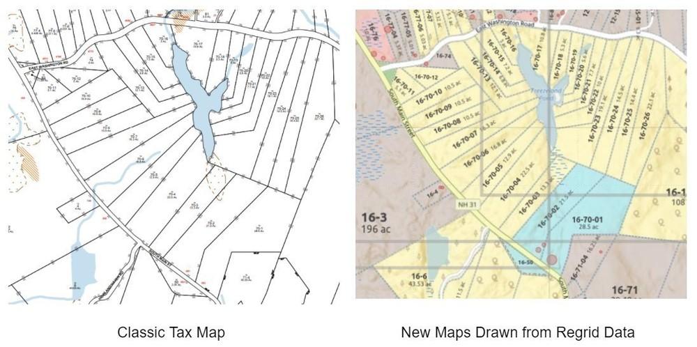 Classic Tax Map vs New Maps Drawn from Regrid Data